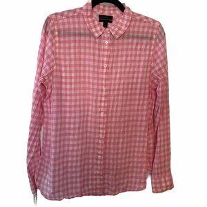J. Crew Button Down Gingham Shirt 12